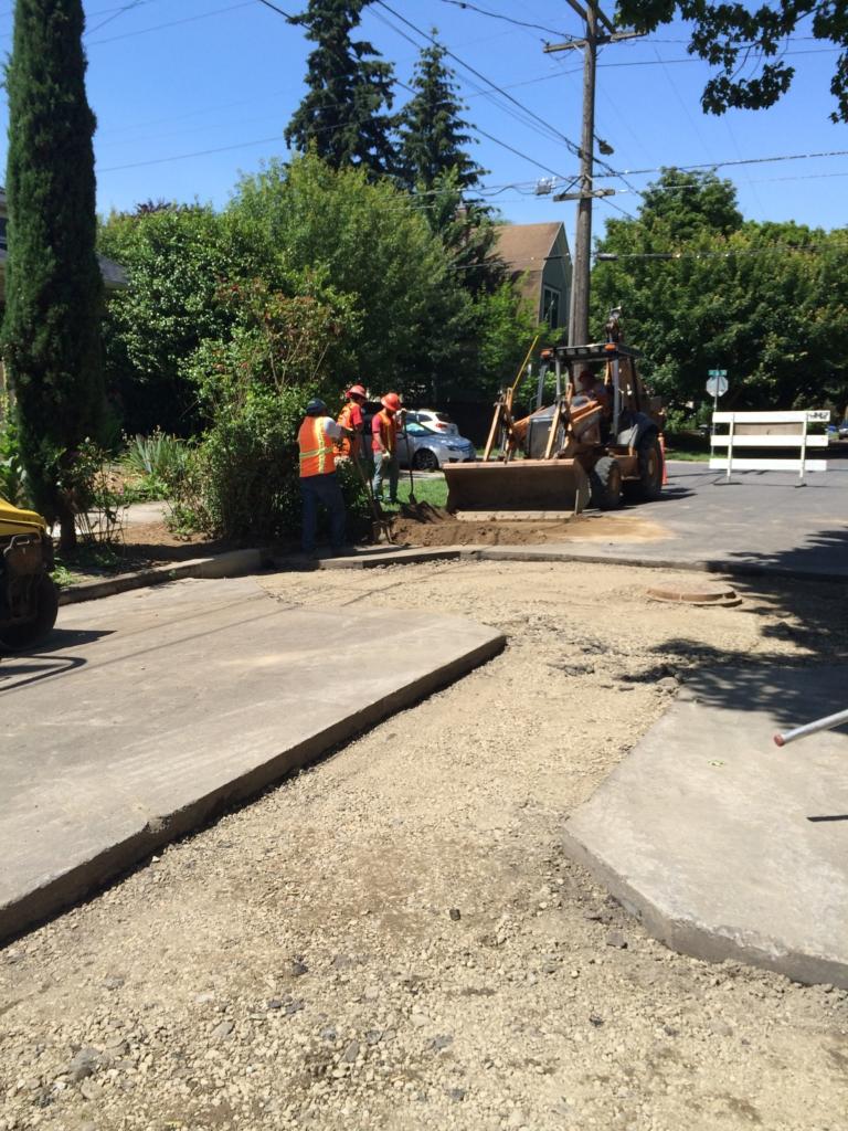 Prepping SE Main Street for paving.