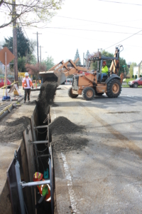 Backfilling our sewer mainline trench